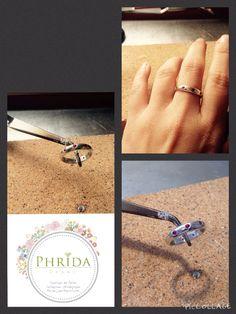 Argolla con rubí de Phrida joyas