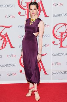 ELETTRA WIEDEMANN  In a Rachel Roy dress, Lulu Frost jewelry, and Rachel Roy shoes at the C.F.D.A. awards.
