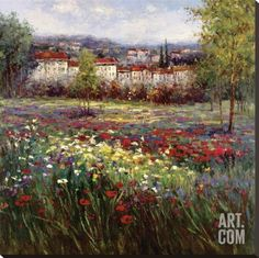 Tuscan Pleasures II Stretched Canvas Print by Hulsey at Art.com