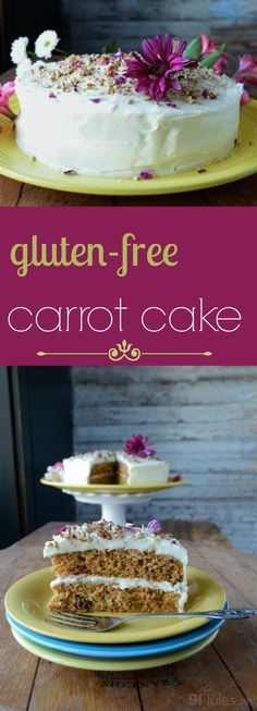 Favorite Gluten Free Carrot Cake A good carrot cake recipe is one of life's necessities, and this gluten-free carrot cake recipe fits the bill: moist, full of flavor, and totally yummy.gfJules.com #glutenfree #carrotcake