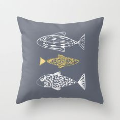 Cojin decorativo gris peces personalizable funda o por Narais