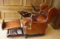 Restoration complete - the most complete Foot chair we have restored !