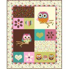 Fabrics for owls baby blanket  Tissus hiboux pour couverture bébé