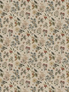 Fleur Botanical Sienna fabric from the French General collection by Fabricut