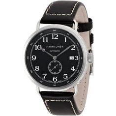 Hamilton Men's 'Khaki Pioneer' Automatic Black Watch - Overstock™ Shopping - Big Discounts on Hamilton Men's Watches
