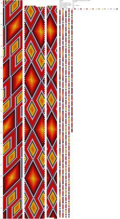 Просторомбы 0,2826 Раскрас лёд и пламя ToskaTusk (18) http://crochetbeadpaint.info/raports/1555149