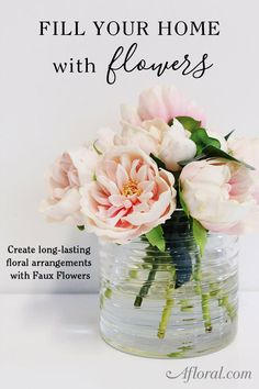 Beautiful floral arrangements start with beautiful flowers.  Create long lasting floral designs with artificial flowers from Afloral.com