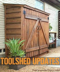Right after we moved in to the Cavender house Jamie found this A-dor-able little tool shed online. It wasn't very expensive, even with shipping. I've looked all over the internet and ca…