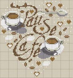 Hobby lavori femminili - ricamo - uncinetto - maglia: e ora caffe punto croce