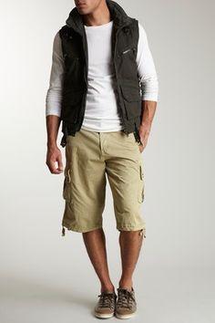 T-Shirt, Cargo Short and Vest