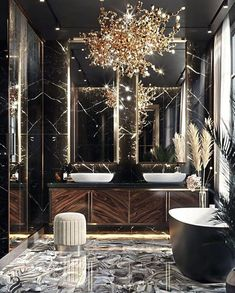 Have a look at a variety of master bathroom styles as you dream up your personal master bathroom renovations. Tips, tricks, and plenty of fresh, fun, and functional master bathroom design suggestions are at your fingertips. Bathroom Layout, Small Bathroom, Modern Bathroom, Minimal Bathroom, Zen Bathroom, Bathroom Vintage, Concrete Bathroom, Classic Bathroom, Bathroom Mirrors