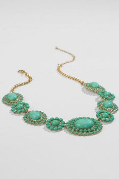 Caney Statement Necklace in Mint from Francesca's