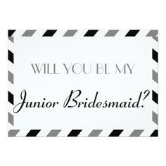 Air Mail Will You Be My Junior Bridesmaid Card