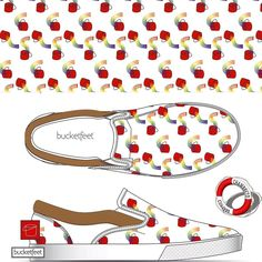 "My shoe design for bucketfeet | theme ""floating grid"" #chambreto #ifyoulikeitpushit #bucketfeet #bucketfeet_switzerland #bucketfeetartists #artisthub #lowtopslipon #bucket #bucketwithslinky #giantslinky #pattern #design #instaart #instadesign #graphicdesign #shoedesign"