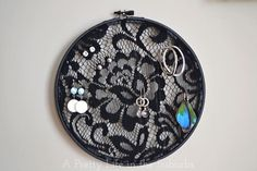Black+Lace+Earring+Holder