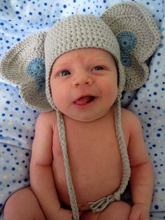 Peanuts the Elephant Crochet Hat PDF Pattern by Curtsay on Etsy, $4.50