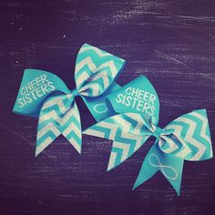 Cheer sisters cheer bows by BragAboutItCheerBows on Etsy