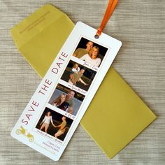 Perfect photo booth save the date cards for Whitney and Matt
