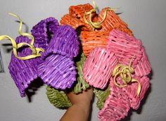 плетение из газет цветы (4) (629x459, 600Kb)
