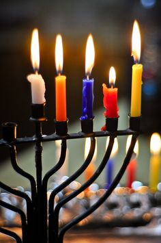...and the candles of Hanukkah burn brightly!