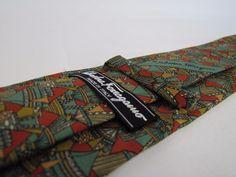 SALVATORE FERRAGAMO Tie Italy 100% Beautiful Necktie Circus or Arabian Tents #SalvatoreFerragamo #Tie