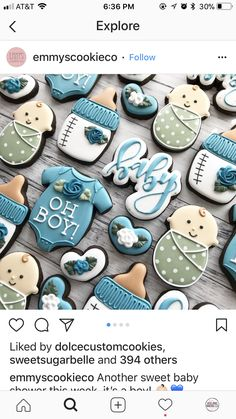 Baby Cookies - Everythink for Babyshower Crazy Cookies, Cute Cookies, Heart Cookies, Valentine Cookies, Birthday Cookies, Easter Cookies, Christmas Cookies, Baby Boy Cookies, Baby Shower Cookies