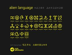 alien language design - Google Search