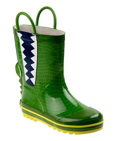 Take a look at this Green & Yellow Rain Boot today!
