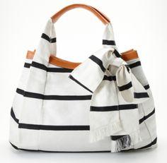 Ann Taylor Nautical Bow Tote - Purses, Designer Handbags and Reviews at The Purse Page