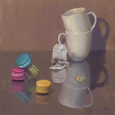'Tea with Sugar Please', soft pastel on sanded paper, by Joanne Power Cotton. Pastel Watercolor, Brisbane, Textile Design, Sugar, Fine Art, Tea, Paper, Cotton, Teas
