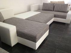 Wohnlandschaft mit kissenstellmasse x 202 cmein echter hingucker moderne polsterecke in for Sofa lagerverkauf