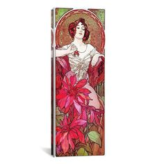 iCanvasART Alphonse Mucha Ruby, 1900 Canvas Print Wall Art