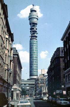"Post office tower 1982. Can't believe this used to be my reference point for getting ""home."""