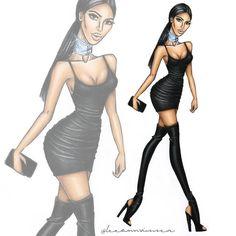Kim Kardashian West #kimkardashian #leeannvisserillustrations
