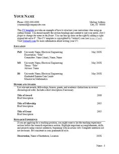 Download the CV Template (Outline Format) from Vertex42.com
