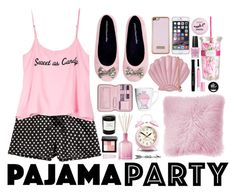 """""""Pajama Party"""" by pau-rosa ❤ liked on Polyvore featuring H&M, Wildfox, Ted Baker, Lili Radu, Skinnydip, JAG Zoeppritz, Boohoo, OPI, Lilly Pulitzer and Revlon"""