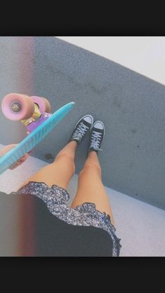 Penny board and converse