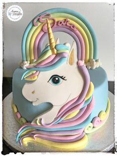 unicorno cake - cake by aroma di vaniglia Fondant Cakes, Cupcake Cakes, Unicorn Birthday Parties, Birthday Cake, Girl Birthday, Little Pony Cake, Character Cakes, Girl Cakes, Savoury Cake