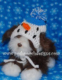Ravelry: Snowman Medium and Large Dog Hat Crochet Pattern pattern by Sara Sach