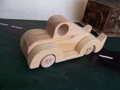 Solid Toy Car Sturdy Cadillac Style Handcrafted by Tigerseyecrafts