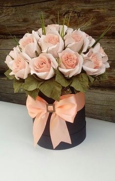 Home Decoration Ideas From Waste .Home Decoration Ideas From Waste Flower Box Gift, Flower Boxes, My Flower, Beautiful Flower Arrangements, Pretty Flowers, Floral Arrangements, Creative Flower Arrangements, Deco Floral, Floral Design