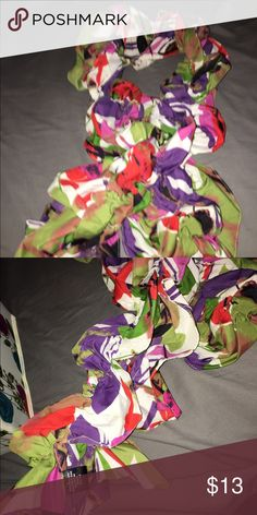 Women's scarf Multi colored women's scarf Accessories Scarves & Wraps