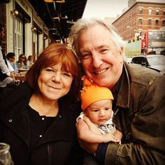 September - October 2014 - Alan and Rima with Seminar co-star Hettienne Park's baby in New York City. Copyright © bwayhefty