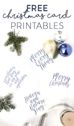 Free Printable Christmas Cards - these are so chic! Perfect to add to last minute gifts even