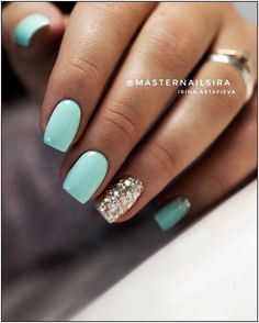 There are many kinds of blue nail art designs, which are also one of the most popular nail colors. In previous articles, we have introduced the art design of Dark Blue Nails, Navy Blue Nails and Blue Sparkle Nails, which are welcomed by women. Blue Gel Nails, Light Blue Nails, Summer Gel Nails, Short Gel Nails, Cute Acrylic Nails, Gel Nail Colors, Cute Nails, Pretty Nails, My Nails