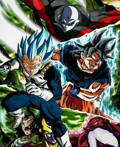Vegeta, Goku and N°17