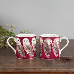 Pair Of Bone China Barn Owl Mugs by Lucy Coggle, the perfect gift for Explore more unique gifts in our curated marketplace. Birthday Present For Husband, Birthday Presents, Diy Gifts For Boyfriend, Birthday Gifts For Boyfriend, 30 Gifts, Unique Gifts, Owl Mug, Stoke On Trent, White Box