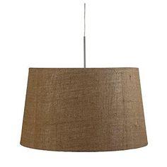 Skicka hängande ljus, 1-brännare, textil, ljusbrun