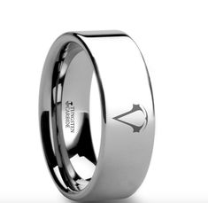 This is a precision crafted ring from our line of Comfort Fit Tungsten Carbide Rings. This ring has the Assassins Creed logo engraved on the ring. The perfect gift for any fan. You can also have any o