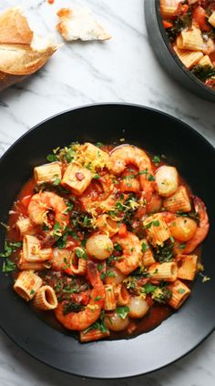 Shrimp and Pasta Stew / Erin McDowell